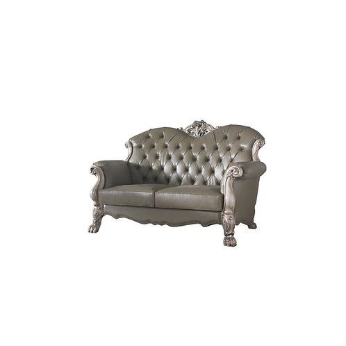 Dresden All Loveseat w/3 Pillows Vintage Bone White and PU