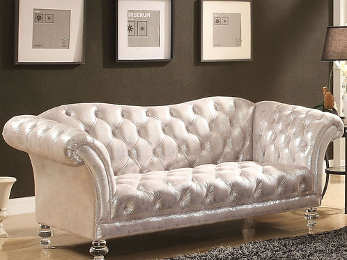 Dixie All Loveseat Metallic Silver