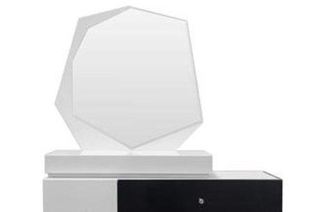 Berlin Best Modern Lacquer Black/White Mirror
