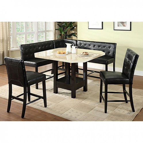 Bahamas Imrad Counter High Table, (2) 2-Seater Chairs, (2) Stools, Corner Chair