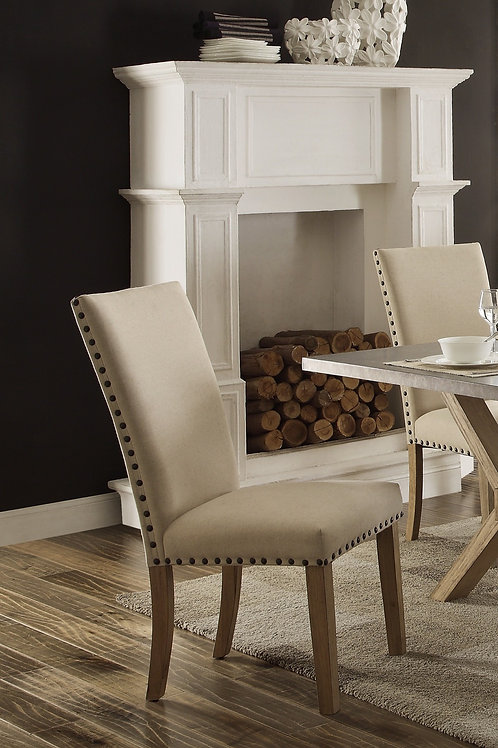 Luella Henry Neutral Fabric Chair