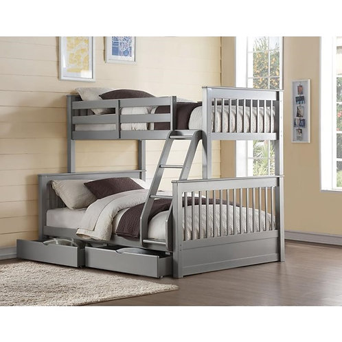 Haley All Twin/Full Gray Bunk Bed