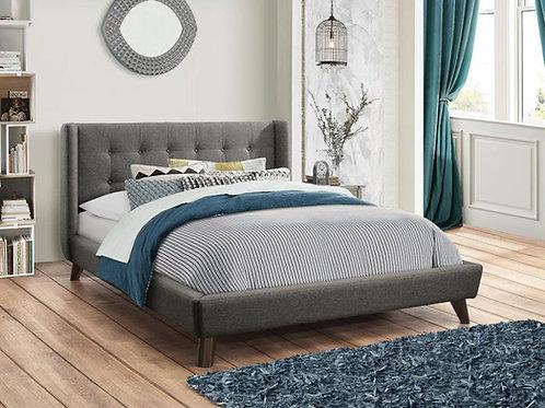 Carrington Cali Button Tufted Mid-Century Modern Bed