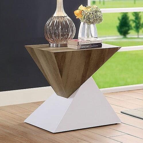 BIMA II Imprad Contemporary Glass- 2 Tone Base End Table