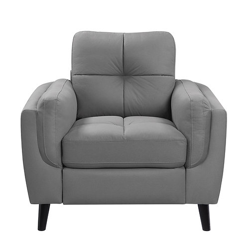 Henry Dorelle Casual Gray Microfiber Chair