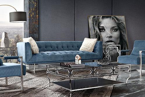 Dream Hollywood -Royal Blue Velvet Sofa