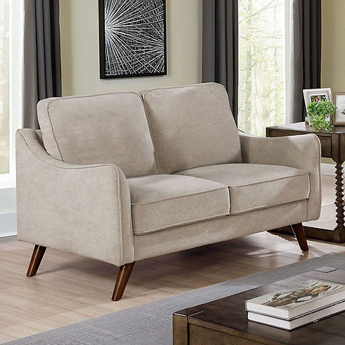 MAXIME Imprad Light Gray Chenille Loveseat