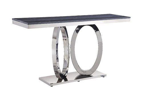All Modern Marble Zasir Sofa Table w/Stainless Base