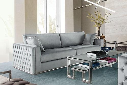 Envy Dream Platinum Grey Velvet Sofa