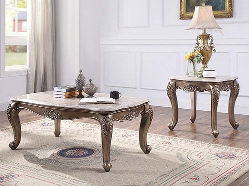 All Jayceon Traditional Marble and Champagne Coffee Table