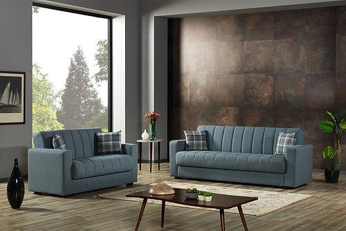 Diva SOHO PRIME Light Blue Fabric Sofa Sleeper