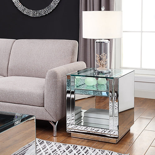 Glam All 81472 Mirrored End Table