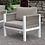 Thumbnail: SASHA Imprad Contemporary White, Light Taupe Arm Chair
