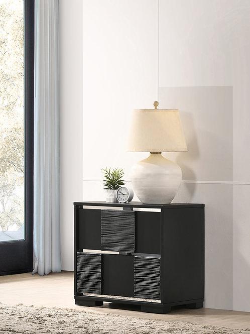 Blacktoft Cali 2-Drawer Nightstand Black
