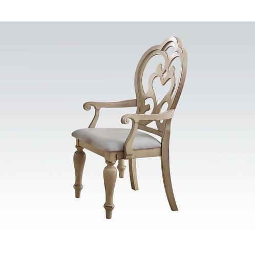 Abelin All Arm Chair Fabric & Antique White