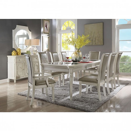 Florissa All Antique White Finish Dining Table