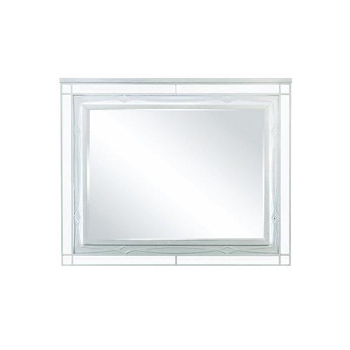 Gunnison Cali Dresser Mirror With LED Lighting Silver Metallic
