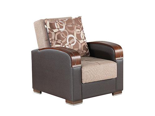 Diva Pegasus Click Clack Sleeper Chair – Brown Farbric
