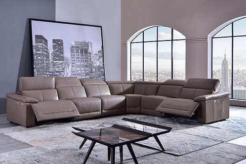 1303 AE Tan Full Leather Power Recliner Sectional (6pc)