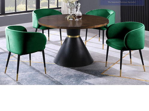 HX009 BestM 5pc Set (Table + 4 Green Chairs)