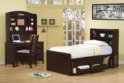 Phoenix Cali Bookcase Bed with Storage