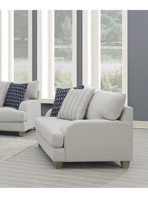 Emeral Laney Gray Linen Chair & Half w/2 Pillows