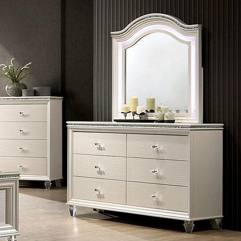 Allie Imprad Pearl White Dresser