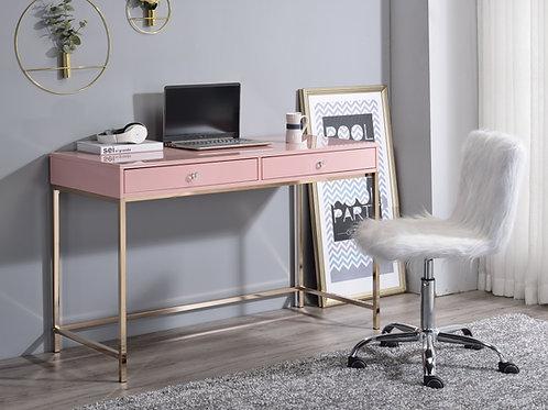 All Ottey Pink-Gold High Gloss Writing Desk
