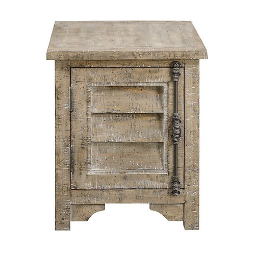 Emeral Interlude Rustic Sandstone Chairside Table