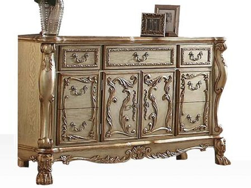 Dresden All Vintage Gold Finish Dresser