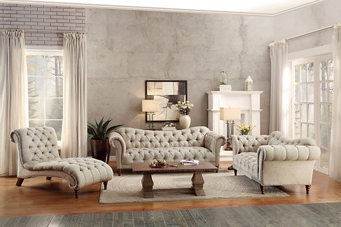 Claire Henry Light Brown Chesterfield Sofa