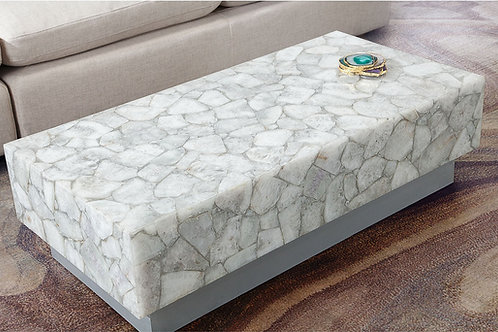 Dream Gemini White Quartz Coffee Table