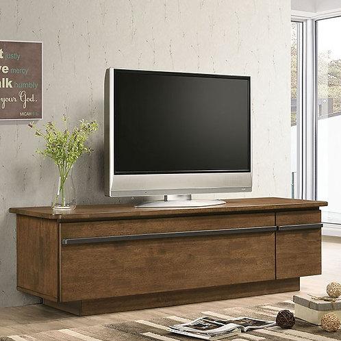 DORIS Imprad Light Walnut, Gray TV Stand