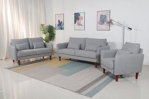 8152 Mg Light Gray Linen Sofa+Loveseat+Chair