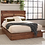 Thumbnail: Cali Winslow Contemporary Platform Bed in Smokey Walnut and Coffee Bean