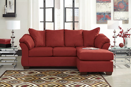 Darsy Angel Red Polyester Sofa Chaise