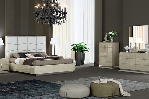 108 AE Light Walnut Finish Bed Modern