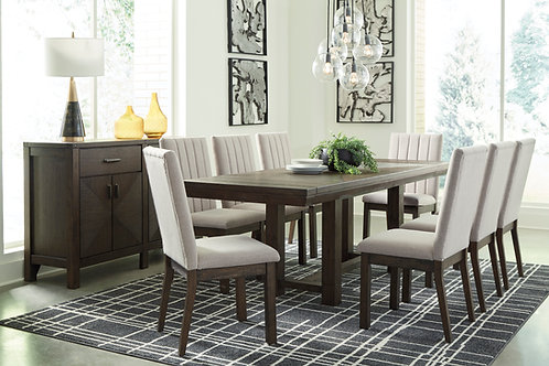Dellbeck Angel Brown Wood RECT Dining Room EXT Table