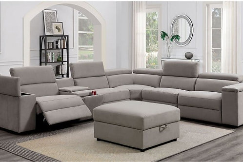 JOSEF Imprad Power Reclining Sectional w/ USB and Armless Chair