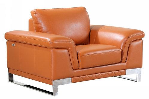 Geo 411 Camel Chair Italian Leather