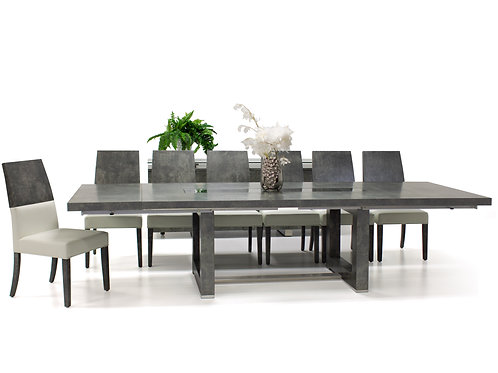 Novo Shar Mattee Concrete Finish Dining Table