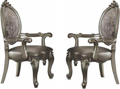 Versailles ALL Platinum Finish Arm Chair