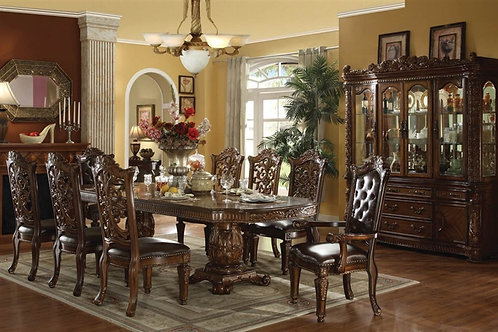 Vendome All Double Pedestal Dining Table Cherry Finish