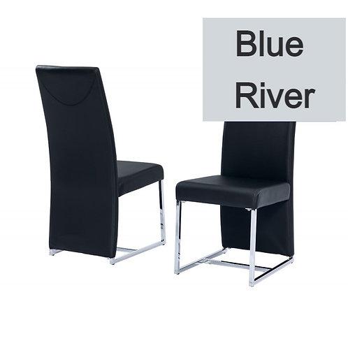 Blue River BA222 Modern Black Leatherette Side Chair