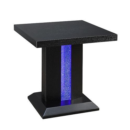 Bernice All End Table, Black & LED