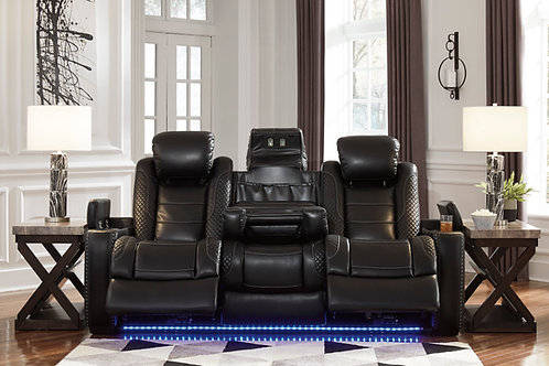 Party Angel Power Black Reclining Sofa