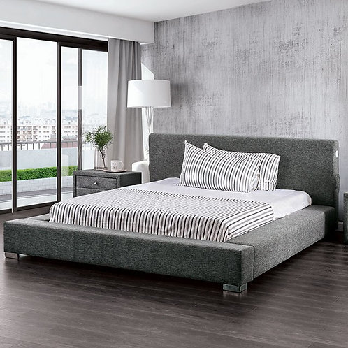 CANAVES Imprad Low Profile Gray Bed