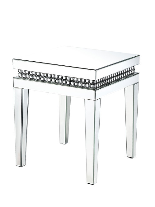 All Lotus End Table - 88052 - Glam - Mirror, Faux Crystals