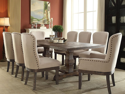 Landon All Salvage Brown Finish Dining Table