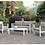 Thumbnail: MAZIE Imprad Contemporary White Coffee Table